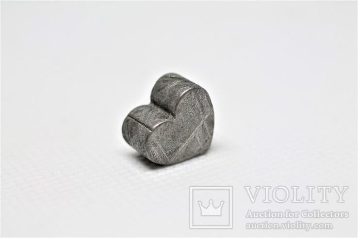 Залізній метеорит Muonionalusta, форма серця, 7,1 грам, сертифікат автентичності, фото №7
