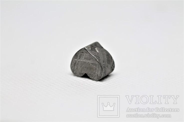 Залізній метеорит Muonionalusta, форма серця, 7,1 грам, сертифікат автентичності, фото №9