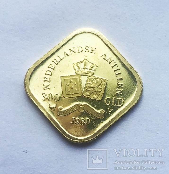 300 гульденов 1980 года. Нидерландские Антиллы