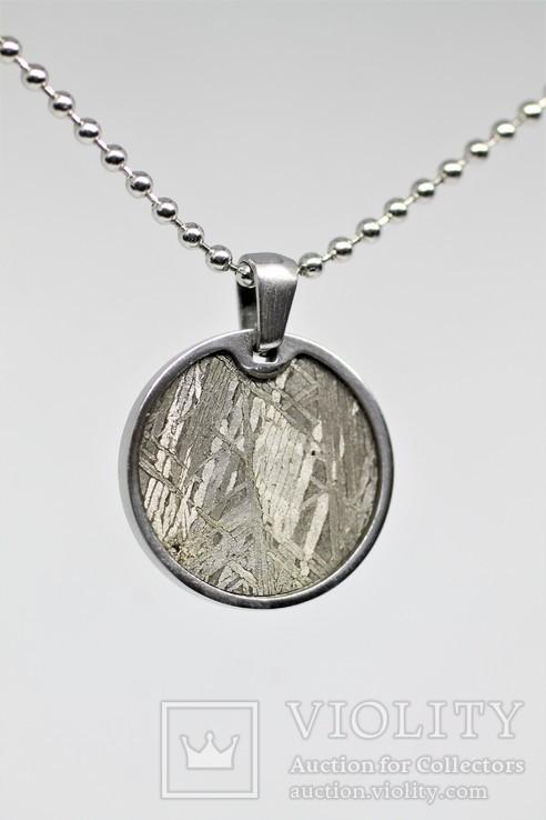 Кулон круглий з залізним метеоритом Muonionalusta, із сертифікатом, фото №8