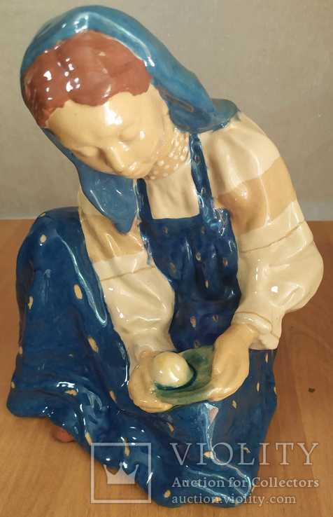 Наливное яблочко. Гжель М. Холодная. Обливная керамика, майолика.