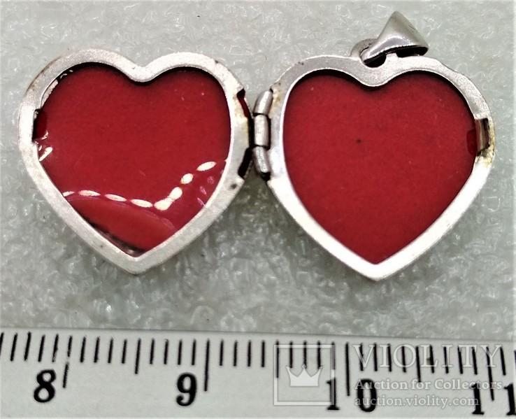 Кулон Подвеска в форме Сердечка или Сердца LOVE, фото №7