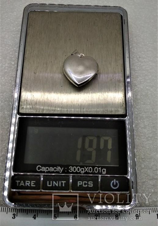 Кулон Подвеска в форме Сердечка или Сердца LOVE, фото №10