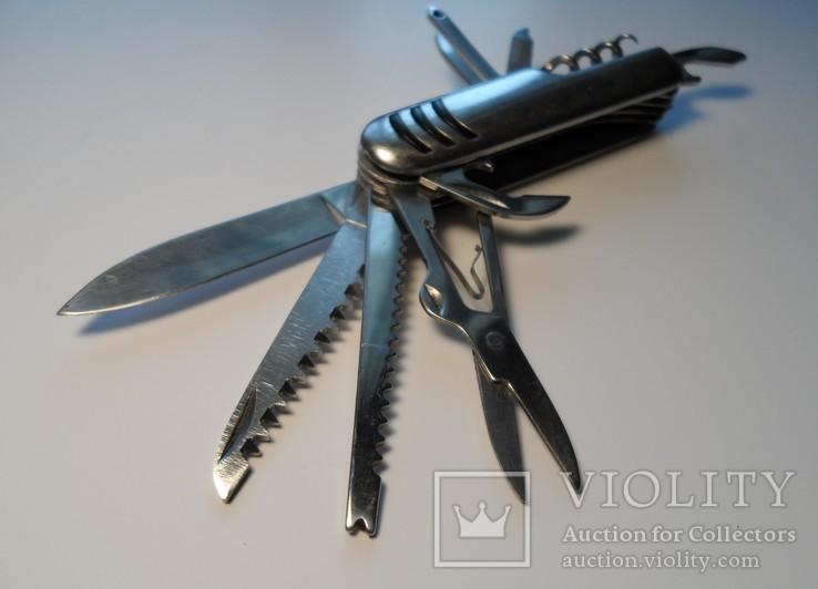 Нож (мультитул) немецкий Rostfrei, 11 предметов. Масса 111 г., фото №5