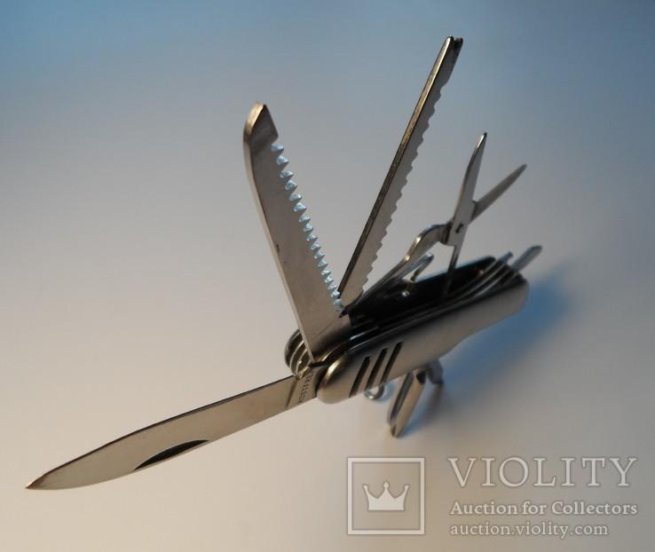 Нож (мультитул) немецкий Rostfrei, 11 предметов. Масса 111 г., фото №8