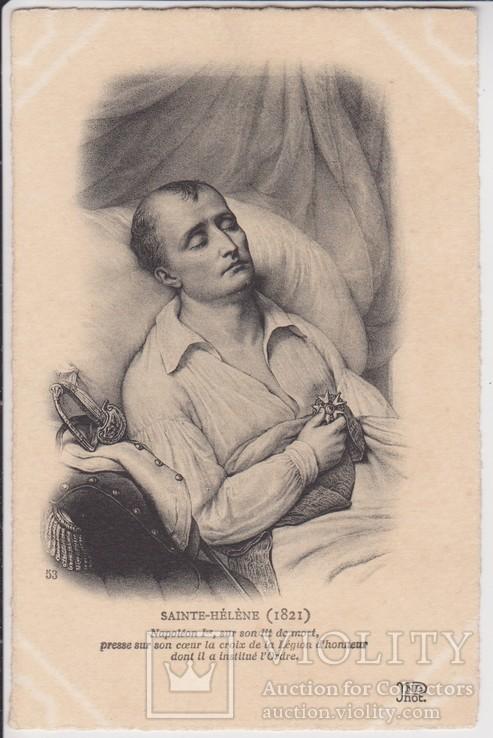 Наполеон I, на смертном одре, прижимает к сердцу Орден Почетного Легиона., фото №2