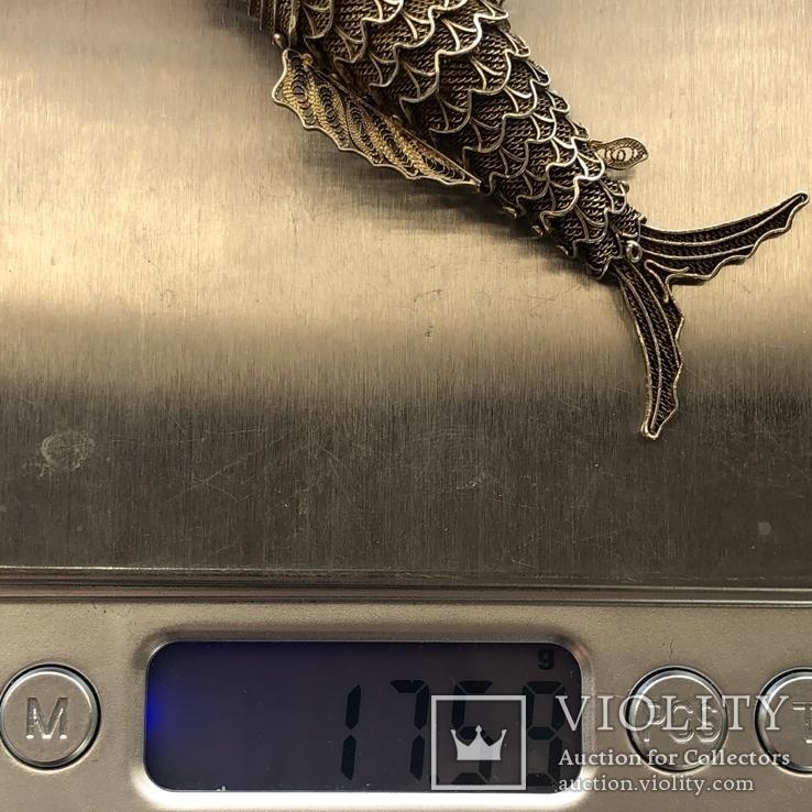 Серебряная подвижная подвеска-ароматница. Старый экспортний Китай, фото №11