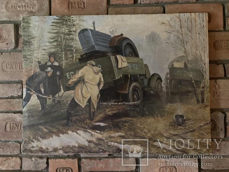 Соцреализм. Картина СССР, 1976г., 70х94см