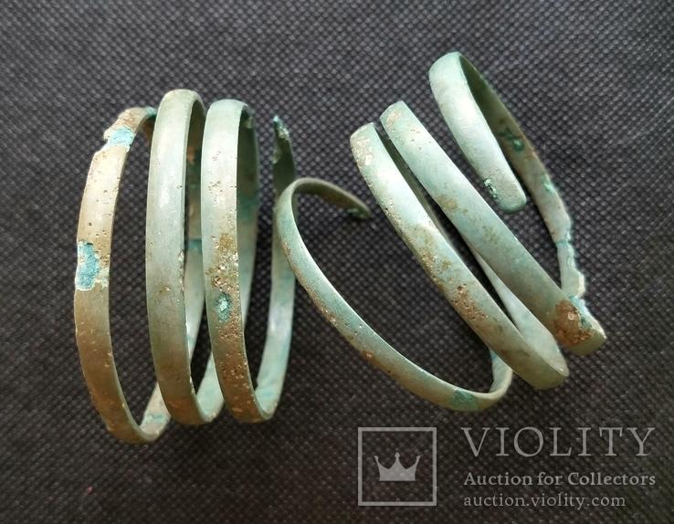 Спиралевидные браслеты бронза