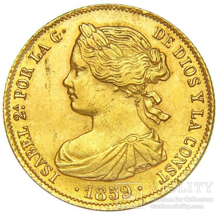 100 Реалов 1859, Испания