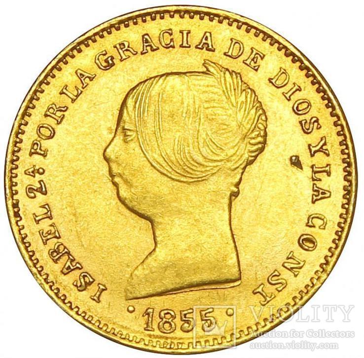 100 Реалов 1855, Испания