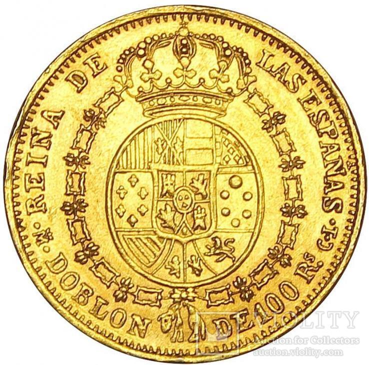 100 Реалов 1855, Испания, фото №3