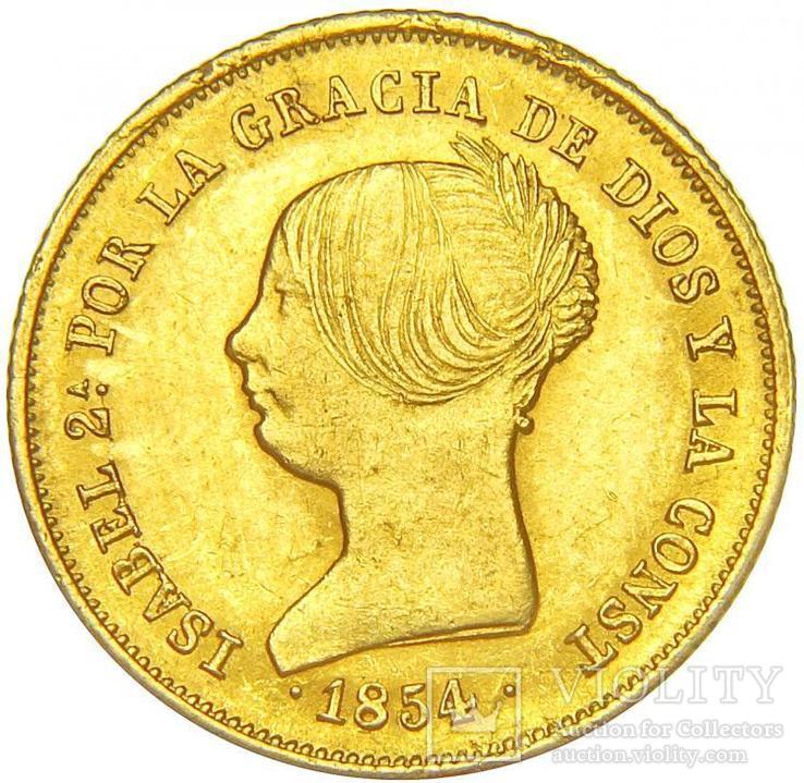 100 Реалов 1854, Испания