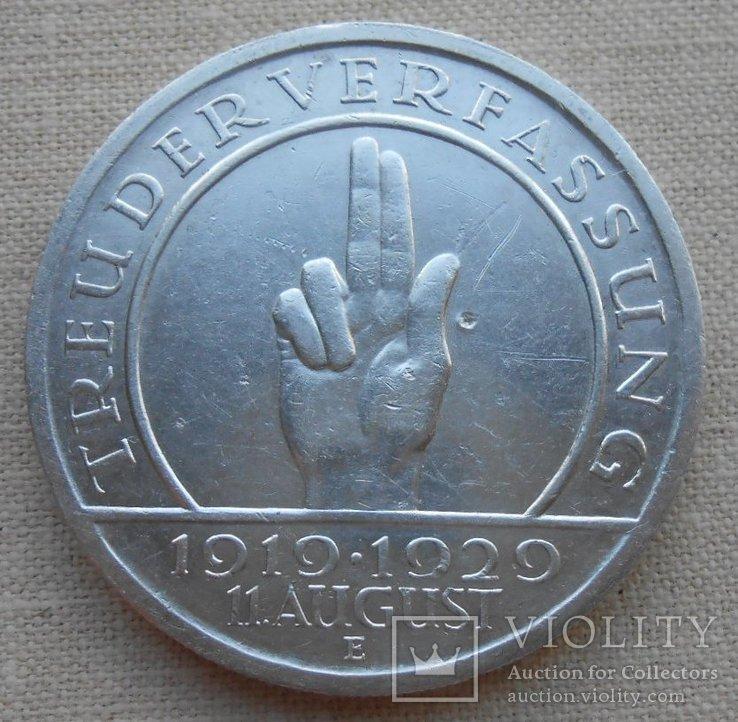 1929 г. Германия 5 марок Гинденбург Серебро, фото №4