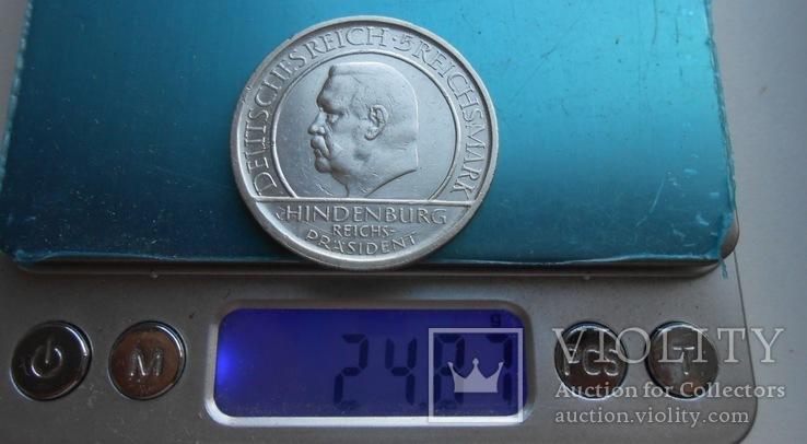 1929 г. Германия 5 марок Гинденбург Серебро, фото №6