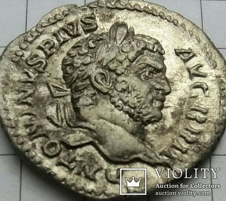 Денарий Каракалла (Caracalla) - 211 г., RIC 222, фото №3