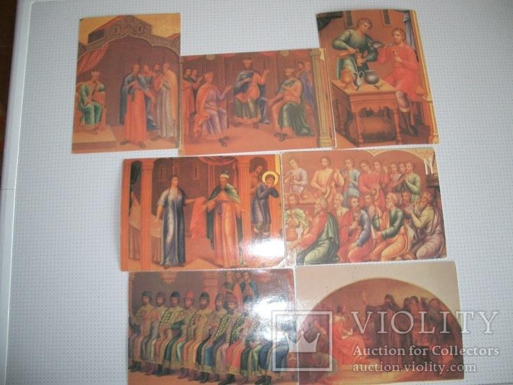 """7 открыток""""Живопись на стенах Грановитой палаты Кремля"""", фото №2"""