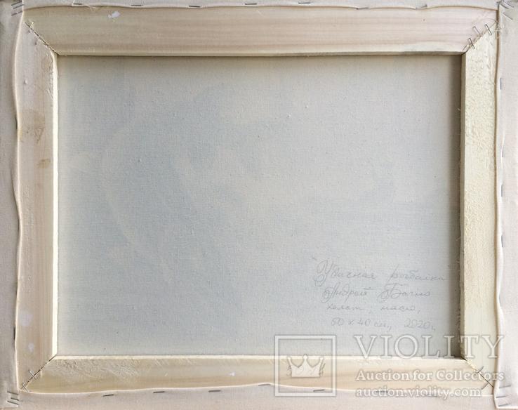 Картина Удачная рыбалка, 50х40 см. Живопись на холсте, фото №6