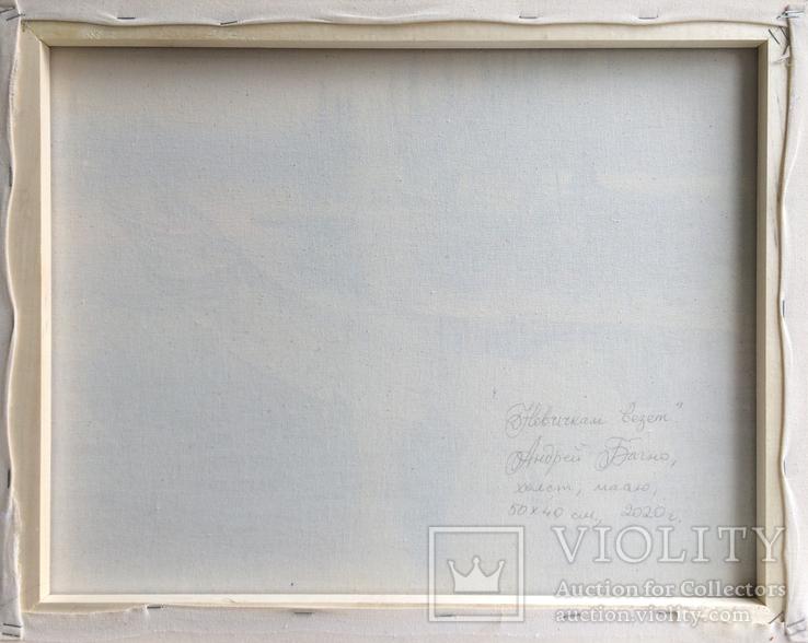 Картина Новичкам везёт, 50х40 см. Живопись на холсте, фото №6