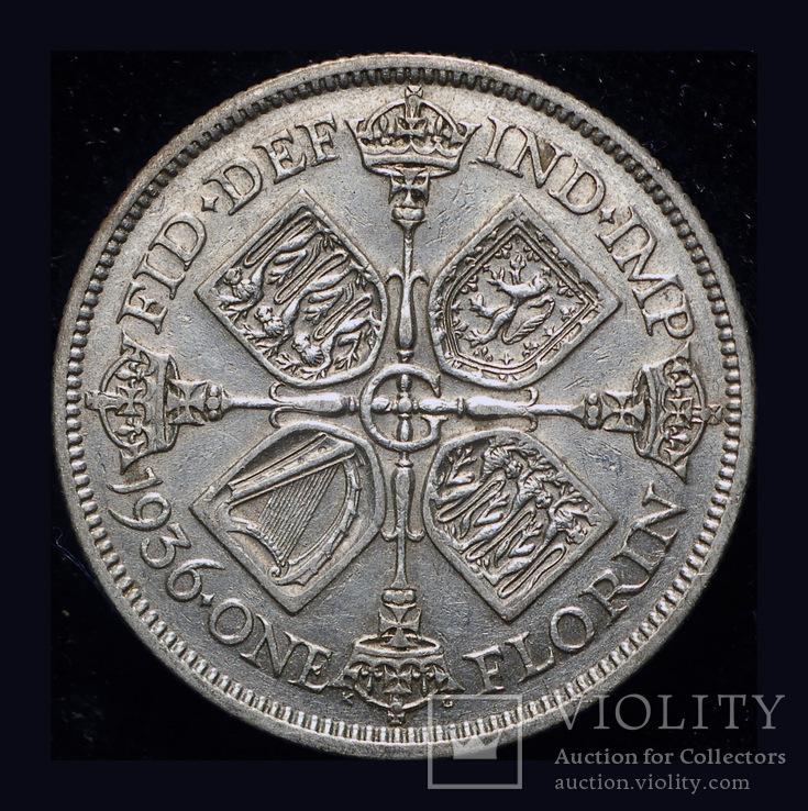 Великобритания флорин 1936 серебро