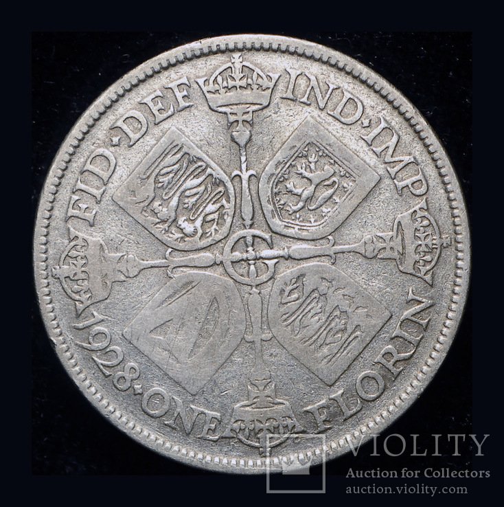 Великобритания флорин 1928 серебро