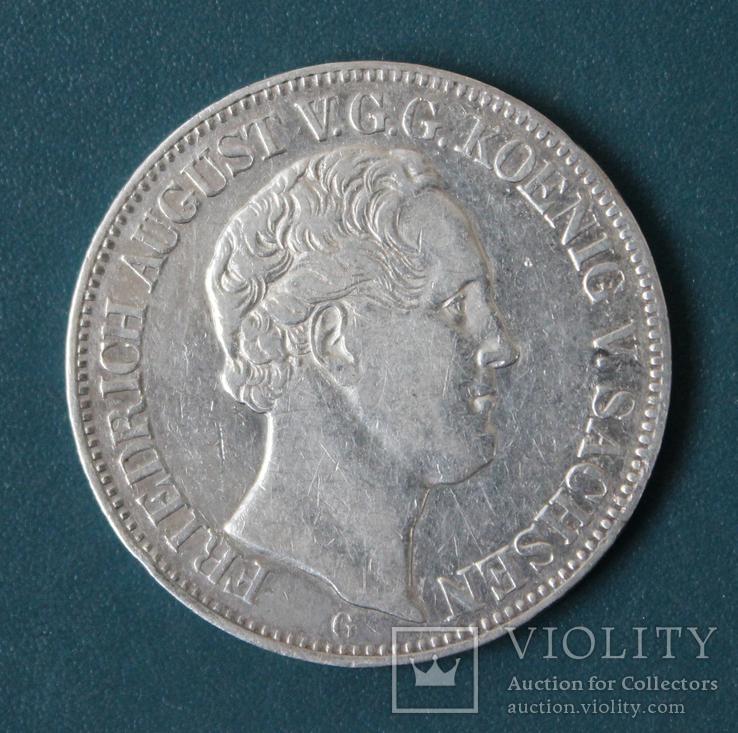 1 талер 1844,Фридрих Август(Саксония), фото №2