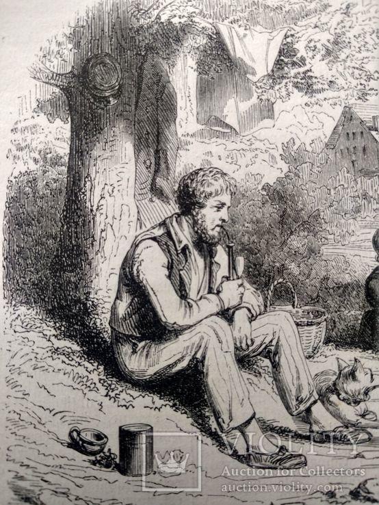 Семья Хейматлоз (3). Приготовление еды. Гравюра (16х11,5), фото №4