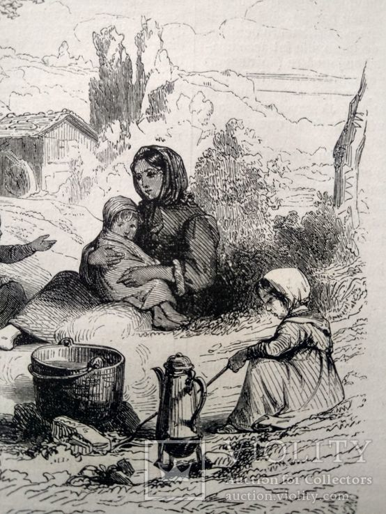Семья Хейматлоз (3). Приготовление еды. Гравюра (16х11,5), фото №6