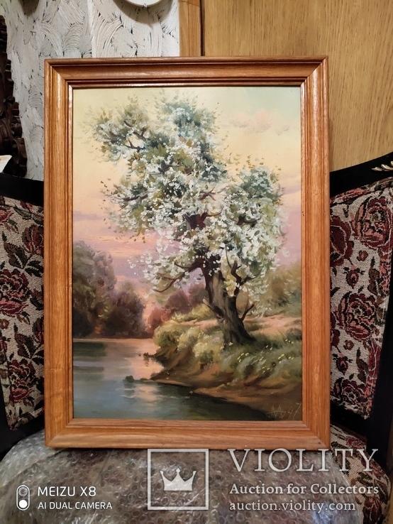 Картина в раме пейзаж,холст,масло автор Алатарцев, фото №2