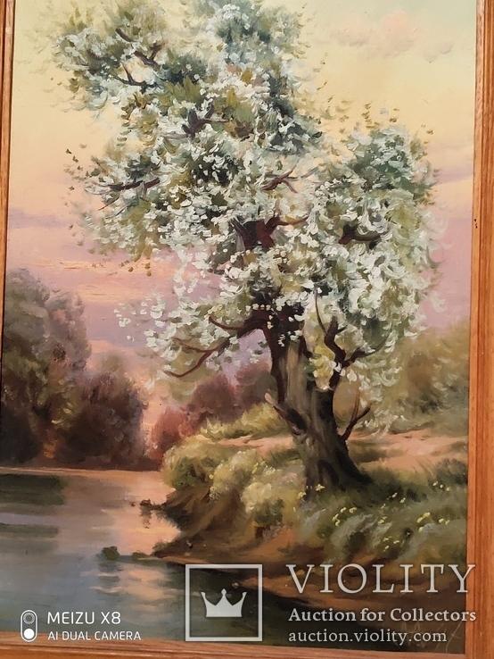 Картина в раме пейзаж,холст,масло автор Алатарцев, фото №4