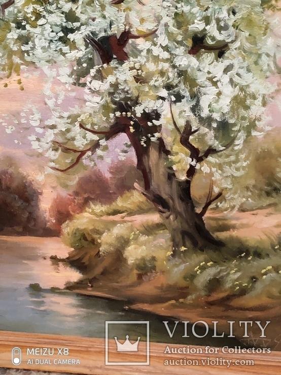 Картина в раме пейзаж,холст,масло автор Алатарцев, фото №8