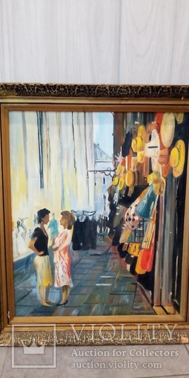 "Модерн ""Парижский Рынок"" Авторская Масло-Холст, фото №3"