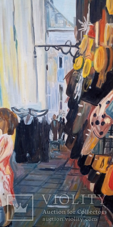 "Модерн ""Парижский Рынок"" Авторская Масло-Холст, фото №6"