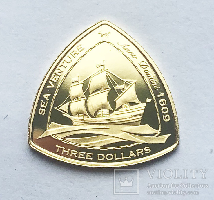 3 доллара 2006 года. Бермудские острова., фото №2