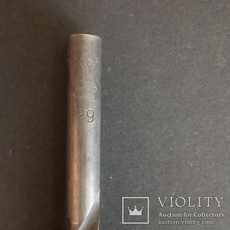 Сверло советское диаметр 8,9 мм Р9 Сестрорецкий завод, фото №5