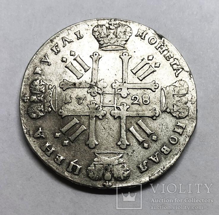 Рубль 1728 года. (Без звезды на груди)