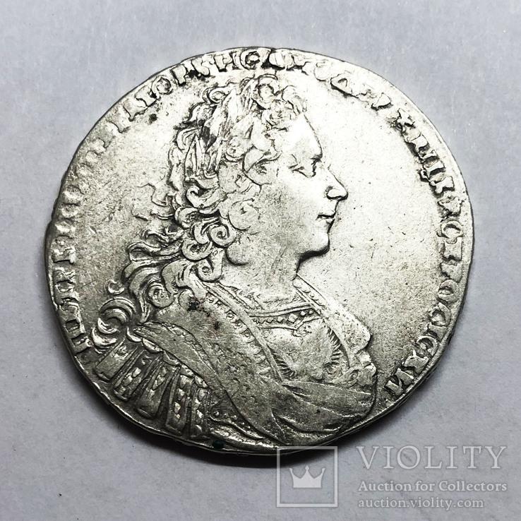 Рубль 1728 года. (Без звезды на груди), фото №3
