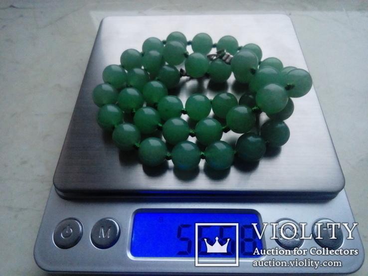 Намисто зелене 50 см, фото №4