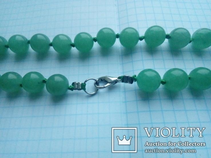 Намисто зелене 50 см, фото №7