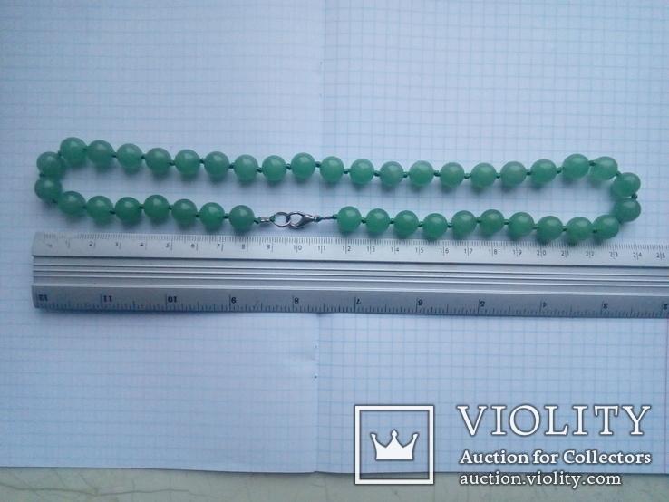 Намисто зелене 50 см, фото №8
