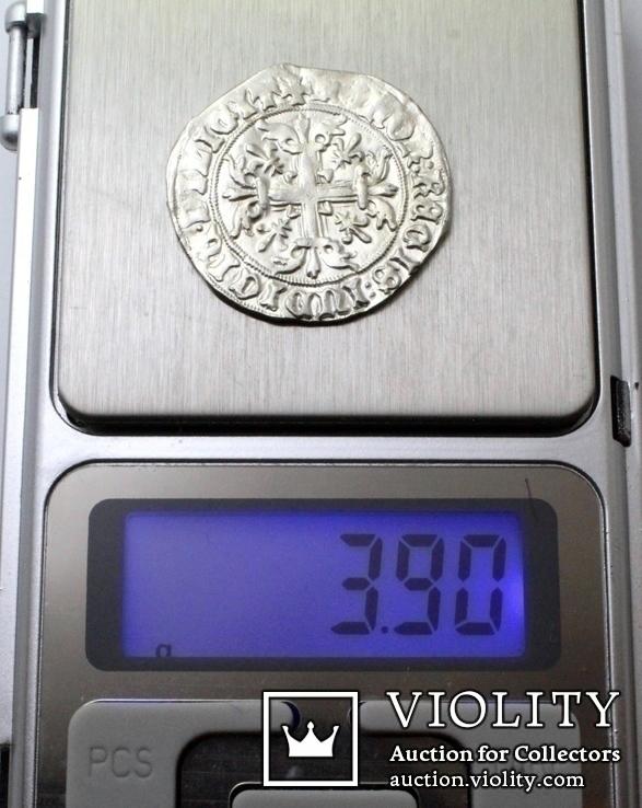Король Неаполю Роберт І «Мудрий» (1309-1343рр.), срібний джильято 1309-1317рр., м.Неаполь, фото №8