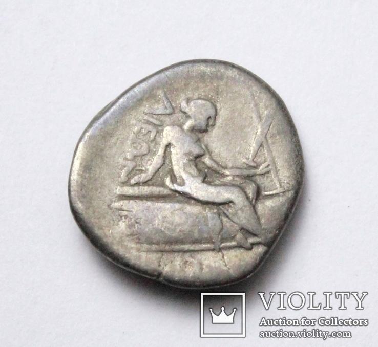 Острів Евбея, м.Гістіея (Ореос), срібний тетробол, ІІІ-ІІ ст. до н.е., фото №4