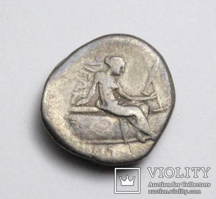 Острів Евбея, м.Гістіея (Ореос), срібний тетробол, ІІІ-ІІ ст. до н.е., фото №8