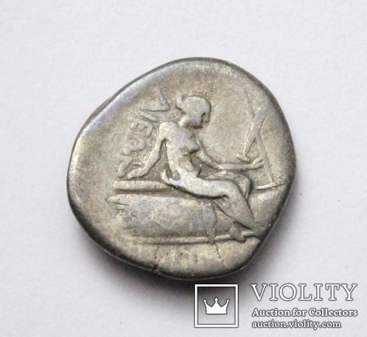 Острів Евбея, м.Гістіея (Ореос), срібний тетробол, ІІІ-ІІ ст. до н.е., фото №9