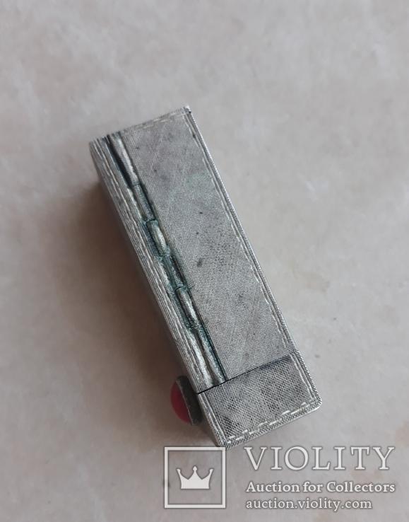 Серебряная помадница с кораллом, фото №7