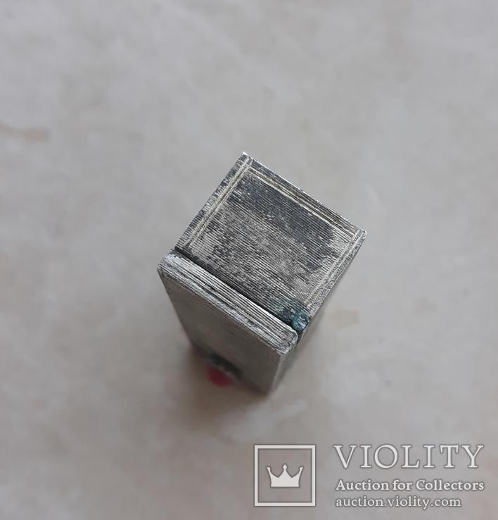 Серебряная помадница с кораллом, фото №11