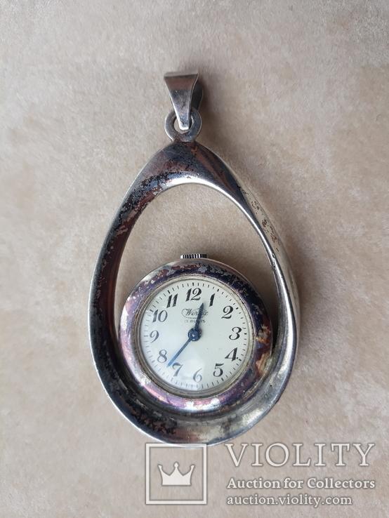 Серебряный кулон-часы, Италия, фото №3