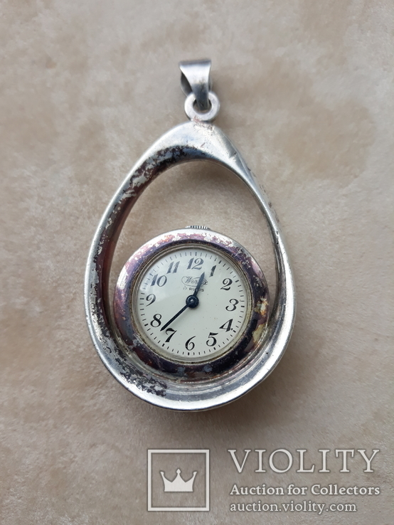 Серебряный кулон-часы, Италия, фото №2