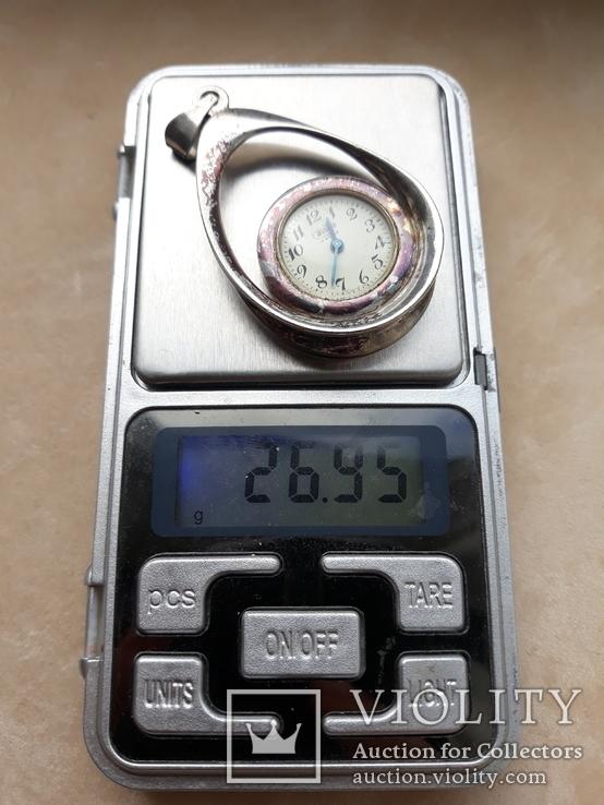 Серебряный кулон-часы, Италия, фото №5