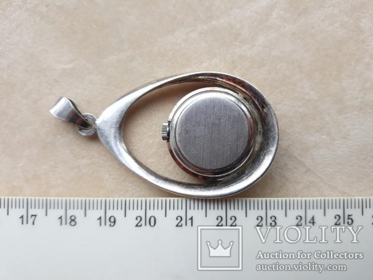 Серебряный кулон-часы, Италия, фото №6